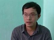 Detienen en Thanh Hoa a propagandista por tergiversar información contra interés del