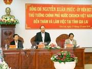 Premier pide a provincia de Gia Lai ofrecer incentivos para inversores