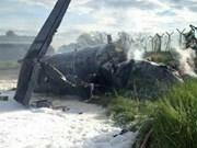 Avión militar se estrella en Malasia