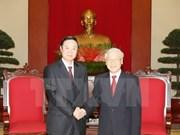 Secretario general del PCV recibe a delegación partidista de China