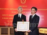 Confiere presidente de Vietnam Orden de Amistad a ex embajador tailandés