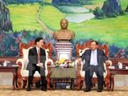 Dirigente laosiano elogia cooperación en propaganda y educación con Vietnam