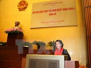 Presidenta del Parlamento enfatiza importancia de consolidación de filas partidistas