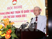 Líder partidista pide al Frente de la Patria de Vietnam fortalecer unidad nacional