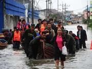 Inundaciones afectan a miles de personas en el Sur de Tailandia
