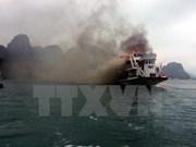 Sin daño humano en incendio de crucero en bahía de Ha Long
