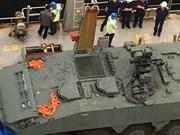Singapur rechaza detención por Hong Kong de sus vehículos blindados