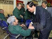 Presidente vietnamita visita a veteranos de guerra
