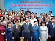 Presidente de Vietnam resalta aportes de connacionales en ultramar