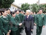 Líder partidista visita Mando de Guardia de Fronteras en ocasión del Tet