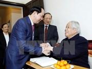 Presidente de Vietnam destaca contribuciones del exdirigente partidista