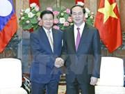 Presidente de Vietnam insta a aumentar conectividad con Laos