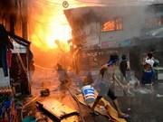 Gran incendio deja sin techo a miles de personas en Filipinas