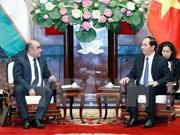 Presidente de Vietnam aboga por aumento de lazos económicos con Uzbekistán