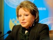 Presidenta de Consejo de Federación de Rusia visitará Vietnam