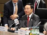 Canciller vietnamita se reúne con homólogos del G20 en Alemania