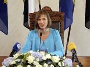 Presidenta estonia busca reforzar nexos con Vietnam