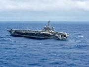 Portaaviones estadounidenses realizan patrullaje en Mar del Este