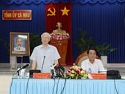Líder partidista vietnamita pide a Ca Mau impulsar economía marítima