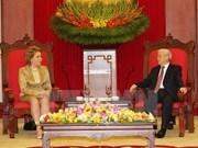 Líder partidista de Vietnam recibe a titular del Senado de Rusia