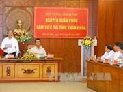 Premier exhorta a Khanh Hoa a desarrollar economía basada en turismo