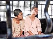 Tailandia mantiene pena de muerte a myanmenos por asesinato de británicos