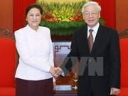 Líder partidista de Vietnam pide fortalecer nexos legislativos con Laos
