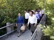 Presidenta parlamentaria de Laos concluye visita a Vietnam