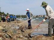Ha Tinh lanza campaña de limpieza de playas