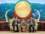 Presidente de Laos recibe a delegación de Vietnam