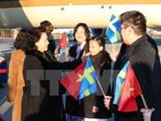 Presidenta del Parlamento vietnamita parte de Suecia, en rumbo hacia Hungría