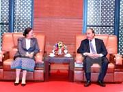 Premier vietnamita recibe a presidenta de Asamblea Nacional de Laos