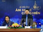 """Periodistas vietnamitas eligen premios musicales """"Dedicación"""" 2017"""