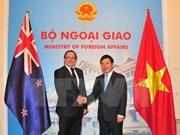 Vietnam y Nueva Zelanda acuerdan medidas para impulsar cooperación