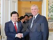 Viceprimer ministro de Vietnam visita Reino Unido