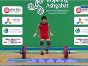 Halterófilo vietnamita obtiene medalla dorada en Campeonato de Asia