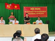 Presidenta de Parlamento dialoga con electores de Can Tho