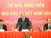 Primer ministro de Vietnam prosigue actividades en Laos