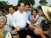 Presidente vietnamita visita comuna ejemplar en modernización rural