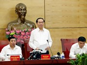 Presidente vietnamita exhorta a Nghe An a fomentar gestión de terreno y minerales