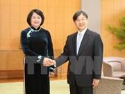 Vicepresidenta vietnamita recibida por Emperador Akihito de Japón