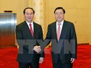 Presidente vietnamita dialoga con líderes chinos
