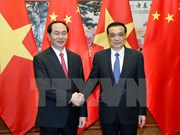 Presidente vietnamita propone medidas para impulsar cooperación con  China