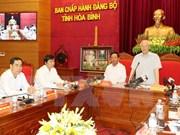 Secretario general del PCV visita provincia norteña de Hoa Binh