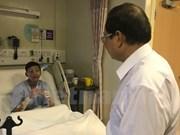 Ofrecen apoyo a tres tripulantes vietnamitas accidentados en Singapur