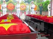 Thua Thien-Hue: Efectúan ceremonia de entierro de mártires vietnamitas caídos en Laos