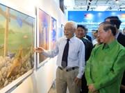 Exposición artística Vietnam – Laos en saludo a 55 aniversario de nexos bilaterales
