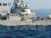 Siete marineros estadounidenses desaparecidos tras choque con un barco filipino