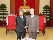 Secretario general del PCV recibe al dirigente legislativo camboyano