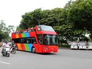Hanoi prueba nuevo servicio de bus turístico de dos pisos